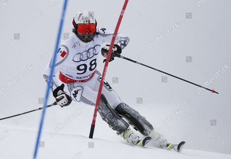 Hubertus Von Hohenlohe of Mexico During His Run in the Men's Slalom at the Fis Alpine World Ski Championships in Beaver Creek Colorado Usa 15 February 2015 the World Championships Run From 02 February Through 15 February United States Beaver Creek