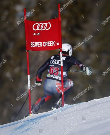 Usa's Wiley Maple in Action During the Men's Downhill Training Run at the Fis Alpine Skiing World Cup in Beaver Creek Colorado Usa 02 December 2014 United States Beaver Creek
