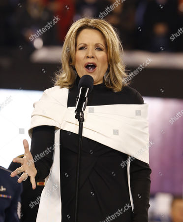 Us Soprano Ren?e Fleming Sings the National Prior to Super Bowl Xlviii Between Denver Broncos and Seattle Seahawks at the Metlife Center in East Rutherford New Jersey Usa 02 February 2014 United States East Rutherford