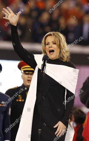 Stock Photo of Us Soprano Ren?e Fleming Sings the National Prior to Super Bowl Xlviii Between Denver Broncos and Seattle Seahawks at the Metlife Center in East Rutherford New Jersey Usa 02 February 2014 United States East Rutherford