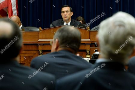 Republican Representative From California Darrell Issa (top) Chairman of the Us House Oversight and Government Reform Committee Listens to Testimony From Retired Navy Admiral and Vice Chairman of the Benghazi Accountability Review Board Michael Mullen (c Back to Camera) During the Hearing on 'Reviews of the Benghazi Attacks and Unanswered Questions' on Capitol Hill in Washington Dc Usa 19 September 2013 the Us Mission in Benghazi Libya was Attacked 11 September 2012 Resulting in the Death of Ambassador J Christopher Stevens and Three Other Americans United States Washington