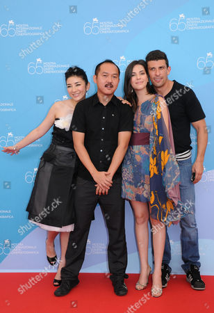 Huang Yi, the director Yu Lik-Wai, Taina Muller and Milhem Cortaz