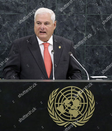 Ricardo Martinelli Berrocal President of Panama Speaks During the General Debate of the 68th Session of the United Nations (un) General Assembly at United Nations Headquarters in New York City New York Usa 25 September 2013 United States New York