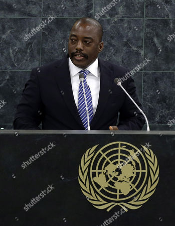 Joseph Kabila Kabange President of the Democratic Republic of the Congo Speaks During the General Debate of the 68th Session of the United Nations (un) General Assembly at United Nations Headquarters in New York City New York Usa 25 September 2013 United States New York