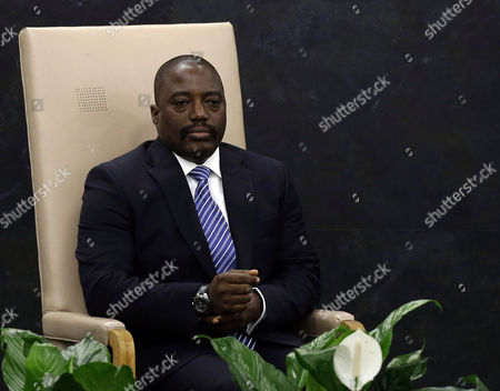 Joseph Kabila Kabange President of the Democratic Republic of the Congo Waits to Speak During the General Debate of the 68th Session of the United Nations (un) General Assembly at United Nations Headquarters in New York City New York Usa 25 September 2013 United States New York