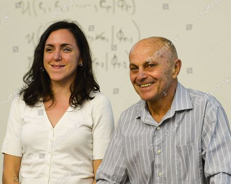 University of Chicago Professor Eugene F Fama (r) Poses with a Student in His Classroom After Winning the 2013 Nobel Prize in Economic Sciences For Trend Spotting in Asset Markets in Chicago Illinois Usa 14 October 2013 the Prize Will Be Shared by University of Chicago Professors Lars Peter Hansen and Eugene F Fama and Yale University Professor Robert J Shiller United States Chicago