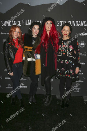 Stock Image of Roxanne Benjamin, Annie Clark, Jovanka Vuckovic and Sofìa Carrillo