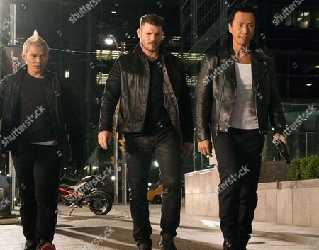 (L-R) Tony Jaa, Michael Bisping, Donnie Yen
