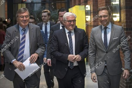 Stock Picture of Frank-Walter Steinmeier, Christian Lindner and Wolfgang Gerhardt