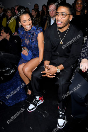 Shantel Jackson and Nelly in the front row