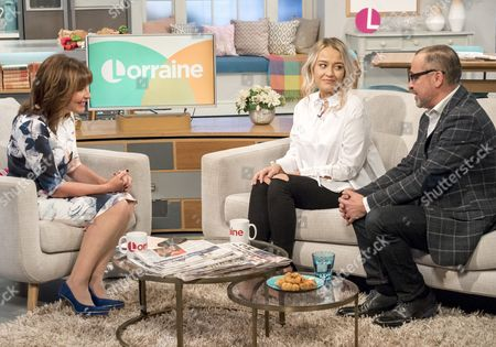 Stock Image of Lorraine Kelly with Hayley Eccles and Geno Eccles