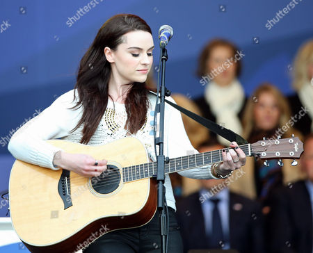 Scottish Singer Amy Mcdonald Performs During the Opening Ceremony of the 40th Ryder Cup at Gleneagles Perthshire Scotland 25 September 2014 United Kingdom Gleneagles