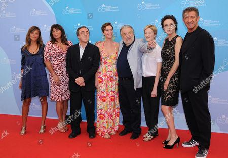 Valeria Bilello, Serena Grandi, Silvio Orlando , Manuela, Morabito , Pupi Avati, Alba Rohrwacher, Francesca Neri and Ezio Greggio