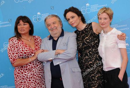 Serena Grandi, Director Pupi Avati, Alba Rohrwacher and Francesca Neri