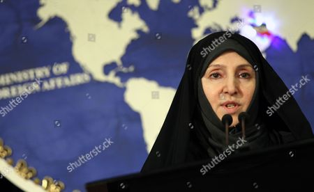Iranian Deputy Foreign Minister Marzieh Afkham Speaks to the Media in Tehran Iran 10 September 2013 Afkham Said That Iran Welcomes Russia's Proposal on International Control of Chemical Weapons in Syria Iran (islamic Republic Of) Tehran