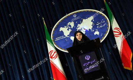 Stock Picture of Iranian Deputy Foreign Minister Marzieh Afkham Speaks to the Media in Tehran Iran 10 September 2013 Afkham Said That Iran Welcomes Russia's Proposal on International Control of Chemical Weapons in Syria Iran (islamic Republic Of) Tehran