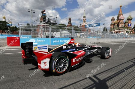 India's Formula E Driver Karun Chandhok of Mahindra Racing Formula E Team Takes Part in the First Practice Session of the Fia Formula E Race in Moscow Russia 06 June 2015 Russian Federation Moscow