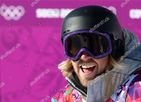 Sage Kotsenburg of the Usa Reacts After His First Run in the Men's Snowboard Slopestyle Final at Rosa Khutor Extreme Park at the Sochi 2014 Olympic Games Krasnaya Polyana Russia 08 February February 2014 Russian Federation Krasnaya Polyana