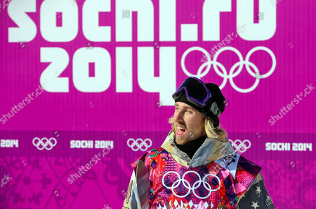Sage Kotsenburg of the Usa Celebrates After Winning the Men's Snowboard Slopestyle Final at Rosa Khutor Extreme Park at the Sochi 2014 Olympic Games Krasnaya Polyana Russia 08 February February 2014 Russian Federation Krasnaya Polyana