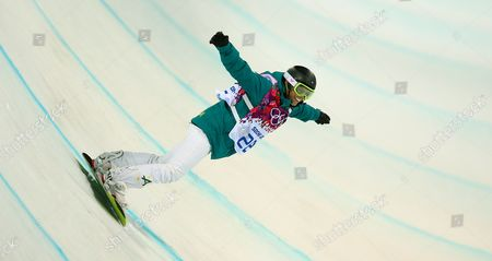 Torah Bright of Australia During the Women's Snowboard Halfpipe Final at Rosa Khutor Extreme Park During the Sochi 2014 Olympic Games Krasnaya Polyana Russia 12 February 2014 Russian Federation Krasnaya Polyana