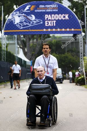 Sir Frank Williams Team Principal of Williams Arrives at the Paddock of the Marina Bay Formula One Street Circuit in Singapore 18 September 2014 the Singapore Formula One Grand Prix Night Race Will Take Place on 21 September 2014 Singapore Singapore