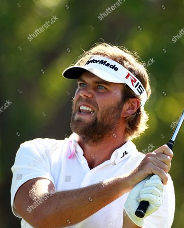 Johan Carlsson of Sweden Watches His Shot During the Second Round of the Omega Dubai Desert Classic 2015 Golf Tournament at Emirates Golf Club in Dubai United Arab Emirates 30 January 2014 United Arab Emirates Dubai