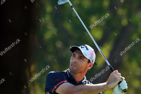 Oliver Wilson of England Watches His Shot During the Second Round of the Omega Dubai Desert Classic 2015 Golf Tournament at Emirates Golf Club in Dubai United Arab Emirates 30 January 2014 United Arab Emirates Dubai