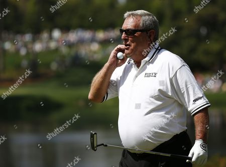 Fuzzy Zoeller of the Us on the Fifth Hole During the Par 3 Contest at the 2014 Masters Tournament at the Augusta National Golf Club in Augusta Georgia Usa 09 April 2014 the Masters Tournament is Held 10 April Through 13 April 2014 United States Augusta