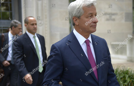 J P Morgan Chase Ceo James Dimon (r) Leaves the Us Deartment of Justice After a Meeting with Us Attorney General Eric Holder (not Pictured) in Washington Dc Usa 26 September 2013 the Meeting Centered on a Settlement to End Investigation of Alleged Abuses in Residential Mortgage-backed Securities United States Washington