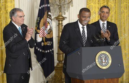 Editorial photo of Usa Obama Foxx Transportation - Apr 2013