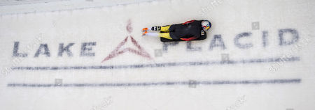 Anja Huber Selbach of Germany Takes a Curve During a Training Run For the Fibt World Cup Bobsled and Skeleton in Lake Placid New York Usa 11 December 2014 United States Lake Placid