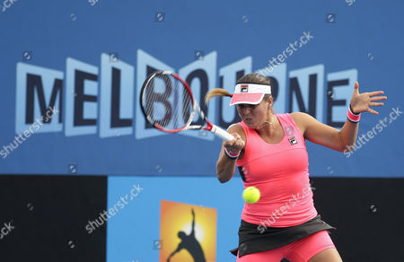 Anna Tatishvili of the Us in Action Against Kimiko Date-krumm of Japan During Their First Round Match at the Australian Open Grand Slam Tennis Tournament in Melbourne Australia 20 January 2015 the Australian Open Tennis Tournament Goes From 19 January Until 01 February 2015 Australia Melbourne