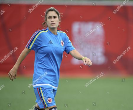 Stock Photo of Colombia's Daniela Montoya During Official Training in Fifa Women's World Cup 2015 in Moncton Canada 12 June 2015 Colombia Will Face France on 13 June 2015 in Group F Match Play Canada Moncton