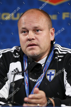 Finish National Soccer Team Head Coach Mixu Paatelainen Speaks During a News Conference at Stade De France Stadium in Saint-denis Near Paris France 14 October 2013 France Will Face Finland in the Fifa World Cup 2014 Qualifying Soccer Match on 15 October 2013 France Saint Denis