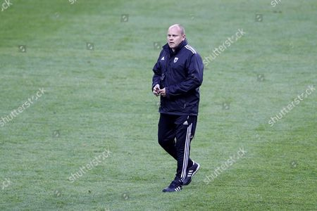 Finish National Soccer Team Head Coach Mixu Paatelainen Attends a Training Session at Stade De France Stadium in Saint-denis Near Paris France on 14 October 2013 France Will Face Finland in the Fifa World Cup 2014 Qualifying Soccer Match on 15 October 2013 France Saint Denis