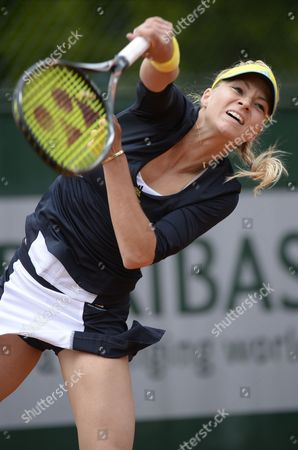 Stock Photo of Maria Kirilenko of Russia in Action During Her 1st Round Match Against Nina Bratchikova of Portugall at the French Open Tennis Tournament at Roland Garros in Paris France 29 May 2013 France Paris