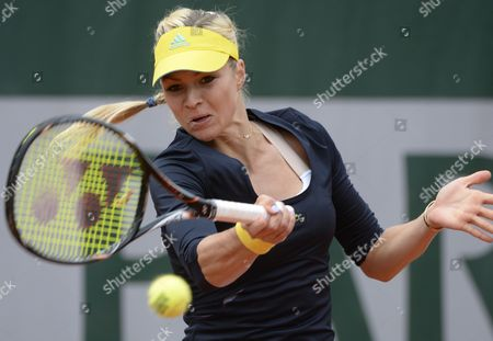 Maria Kirilenko of Russia in Action During Her 1st Round Match Against Nina Bratchikova of Portugall at the French Open Tennis Tournament at Roland Garros in Paris France 29 May 2013 France Paris