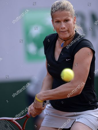 Melinda Czink of Hungary in Action During Her 1st Round Match Against Francesca Schiavone of Italy at the French Open Tennis Tournament at Roland Garros in Paris France 27 May 2013 France Paris