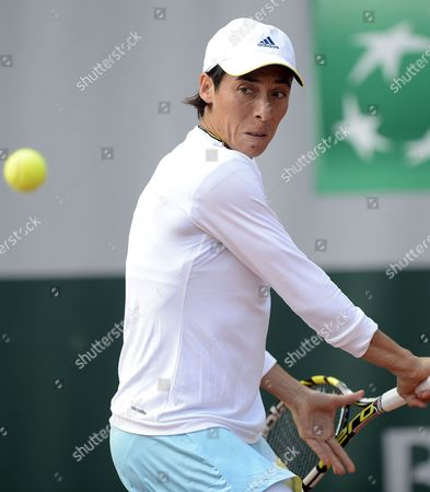 Stock Picture of Francesca Schiavone of Italy in Action During Her 1st Round Match Against Melinda Czink of Hungary at the French Open Tennis Tournament at Roland Garros in Paris France 27 May 2013 France Paris