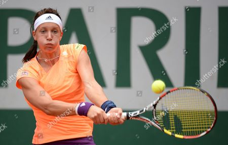 Dinah Pfizenmaier of Germany in Action During Her Second Round Match Against Sara Italy of Italy For the French Open Tennis Tournament at Roland Garros in Paris France 29 May 2014 France Paris