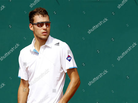 Jerzy Janowicz of Poland Reacts During His First Round Match Against Michael Llodra of France at the Monte-carlo Rolex Masters Tournament in Roquebrune Cap Martin France 15 April 2014 France Roquebrune Cap Martin