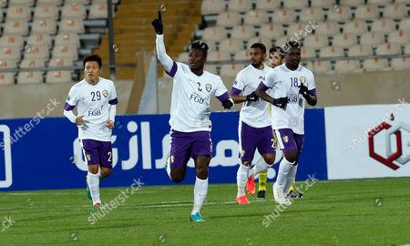 Uae Asamoah Gyan Celebrates After Scoring Goal During the Afc Champions League Group a Soccer Match Between Naft Tehran Fc and Uae Al-ein Fc at Azadi Stadium in Tehran Iran 03 March 2015 Iran (islamic Republic Of) Tehran