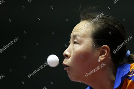 Editorial photo of Japan Table Tennis Team World Championships - May 2014