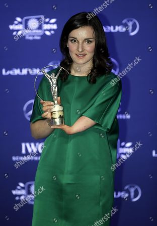 French Skier Marie Bochet Poses with Her Laureus World Sportsperson of the Year with a Disability Award Trophy During the 2014 Laureus Sports Awards Ceremony in Kuala Lumpur Malaysia 26 March 2014 the Laureus World Sports Awards Are Awarded Annually to Sports People who Have Been Outstanding During the Previous Year Malaysia Kuala Lumpur