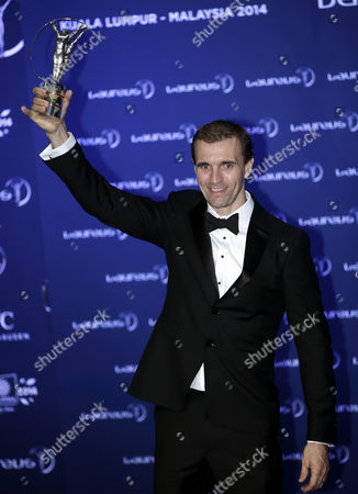 British Bmx Rider Jamie Bestwick Poses with His Laureus World Action Sportsperson of the Year Award Trophy During the 2014 Laureus Sports Awards Ceremony in Kuala Lumpur Malaysia 26 March 2014 the Laureus World Sports Awards Are Awarded Annually to Sports People who Have Been Outstanding During the Previous Year Malaysia Kuala Lumpur
