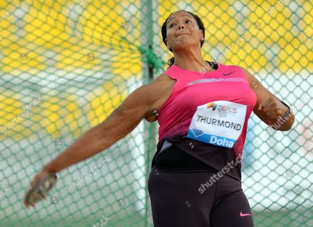 Stock Image of Aretha Thurmond of the Us Competes During the Women's Discus Throw at the Iaaf Diamond League Meeting in Doha Qatar 10 May 2013 Qatar Doha