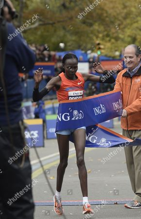 Priscah Jeptoo of Kenya Wins the Women's Division in the New York City Marathon in New York New York Usa 03 November 2013 United States New York