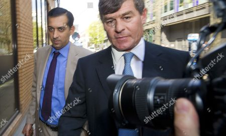 Godolphin Trainer Mahmood Al Zarooni (l) Arrives to a Disciplinary Panel of the British Horseracing Authority in London Britain 25 April 2013 Al Zarooni was Charged by the British Horseracing Authority After Samples From 11 of His Horses Were Found to Have Contained Traces of Anabolic Steroids United Kingdom London