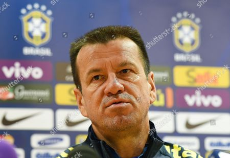 Brazilian National Soccer Team Head Coach Carlos Dunga Speaks During a Press Conference in London Britain 28 March 2015 Brazil Will Face Chile in an International Friendly Soccer Match on 29 March 2015 United Kingdom London