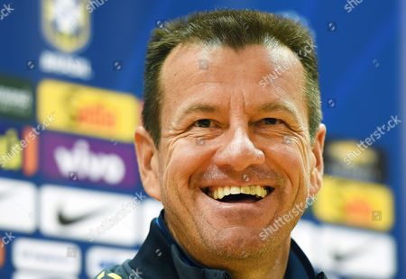 Brazilian National Soccer Team Head Coach Carlos Dunga Smiles During a Press Conference in London Britain 28 March 2015 Brazil Will Face Chile in an International Friendly Soccer Match on 29 March 2015 United Kingdom London